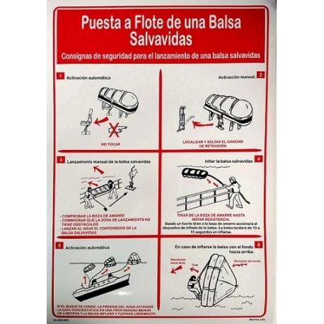 Póster ARRIADO DE LA BALSA  (45x32cm) White Vin. IMO symbol 221502WV-SP