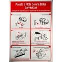 Señal IMO PÓSTER ARRIADO DE BALSA SALVAVIDAS (45x32cm) vinilo blanco autoadhesivo 221502WV-SP