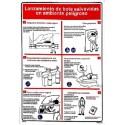 Señal IMO PÓSTER LANZAMIENTO DE BOTE SALVAVIDAS EN AMBIENTE PELIGROSO (45x32cm) vinilo blanco autoadhesivo 221505WV-SP