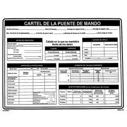 Póster PUENTE DE MANDO (45x32cm) PVC IMO symbol 221510PVC-SP
