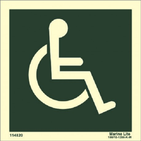 Disabled symbol right (15x15cm) Phot.Vin. IMO sign 114820
