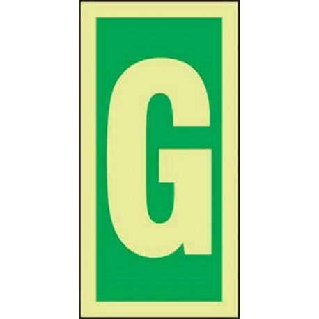 LETTER G (15x7,5cm) Phot.Vin. IMO sign 104216