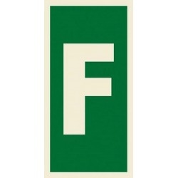 LETTER F  (15x7,5cm) Phot.Vin. IMO sign 104215