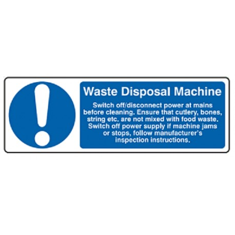 WASTE DISPOSAL MACHINE (10x30cm) White Vin. IMO sign 195756WV