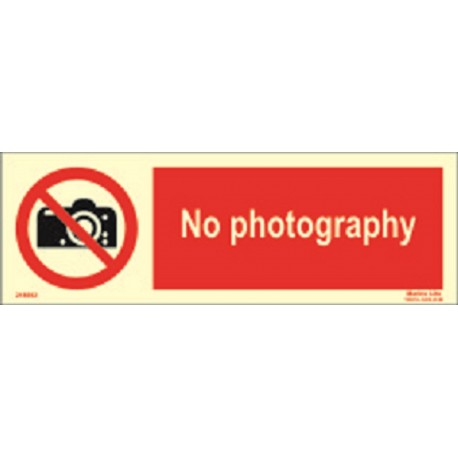 NO PHOTOGRAPHY (10x30cm) Phot.Vin. IMO sign 218692