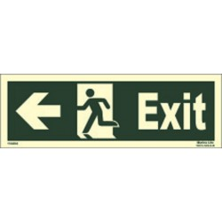 EXIT MAN RUN LEFT ARROW LEFT (15x40cm) Phot.Vin. IMO sign 114404(13)