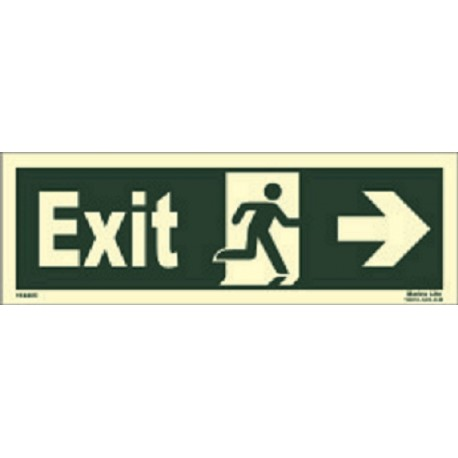 EXIT MAN RUNNING ARROW RIGHT (15x40cm) Phot.Vin. IMO sign 114405 (13)