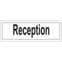 Reception (10x30cm) White Vin. IMO sign 212907WV