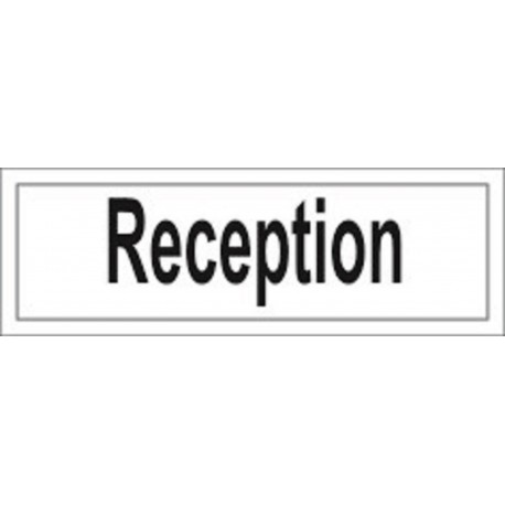 RECEPTION (10x30cm) White Vin. IMO sign 212907WV