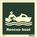 RESCUE BOAT  (30x30cm) Phot.Vin. IMO sign 104101