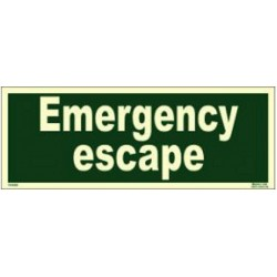 Emergency Escape (10x30cm) Phot.Vin. IMO sign 114345