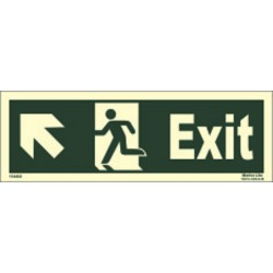 EXIT MAN RUN. ARROW UP SIDE LEFT (15x40cm) Phot.Vin. IMO sign 114402 (13)