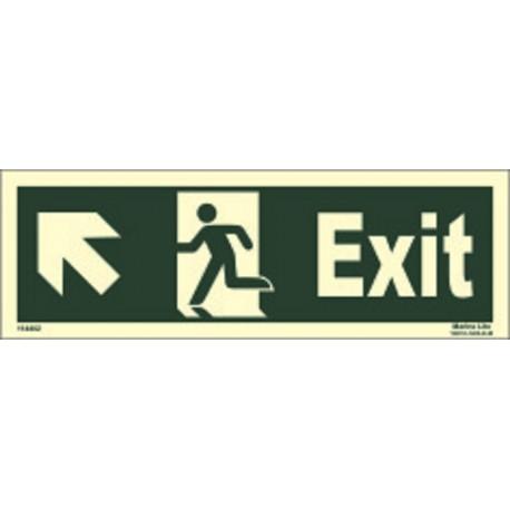 EXIT MAN RUN. ARROW UP SIDE LEFT (15x40cm) Phot.Vin. IMO sign 114402 (13)