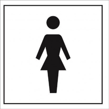 TOILETS  (15x15cm) White Vin. IMO sign 172408WV