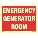 EMERGENCY GENERATOR ROOM  (15x20cm) Phot.Vin. IMO sign 230229-16