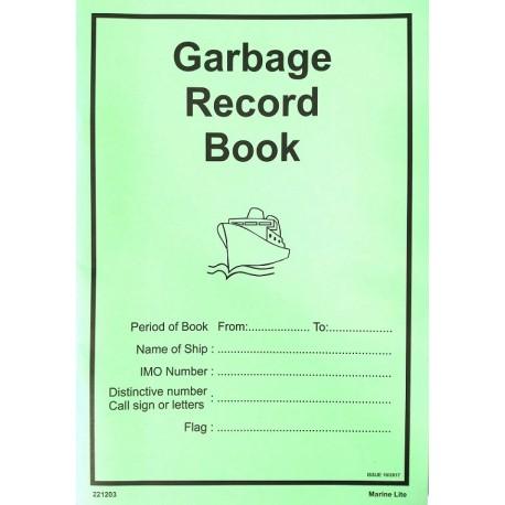 Garbage record book (A-4) 221203/ IMPA 332641