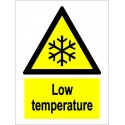 LOW TEMPERATURE  (20x15cm) White Vin. IMO sign 230313WV / WSS010