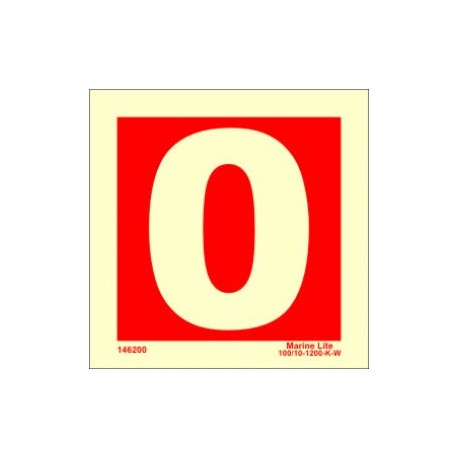 NUMBER 0  (15x15cm) Phot.Vin. IMO sign 146250