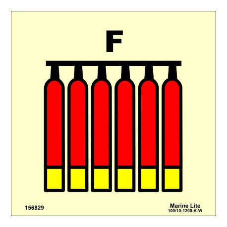 FIXED FOAM FIRE EXTINGUISHING BATTERY  (15x15cm) Phot.Vin. IMO sign 156829