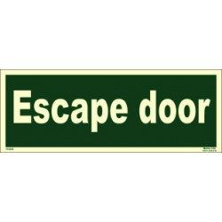 ESCAPE DOOR (15x40cm) Phot.Vin. IMO sign 114343