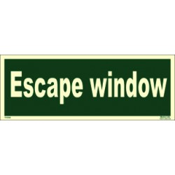 ESCAPE WINDOW (15x40cm) Phot.Vin. IMO sign 114344
