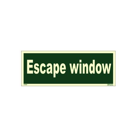 ESCAPE WINDOW (15x40cm) Phot.Vin. IMO sign 114344