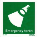 EMERGENCY TORCH  (15x15cm) Phot.Vin. IMO sign 10-4473