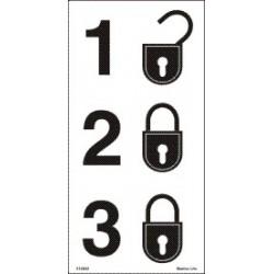 SECURITY LEVEL  (20x30cm) White Vin. IMO symbol 230225(1)WV