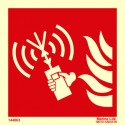 FIRE FIGHTERS PORTABLE RADIO 15x15cm Phot.Vin. IMO sign 144063/ 146117