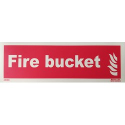 FIRE BUCKET  (10x30cm) Phot.Vin. IMO sign 230303