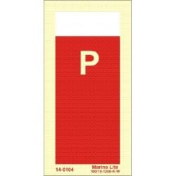 SEÑAL ADICIONAL IDENTIFICATIVA MEDIO DE EXTINCIÓN POLVO (15x7,5cm) vinilo fotoluminiscente IMO sign 14-0104