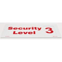 Señal IMO NIVEL DE SEGURIDAD (1, 2, 3) (1, 2, 3) (15X30CM) PVC  212703PVC