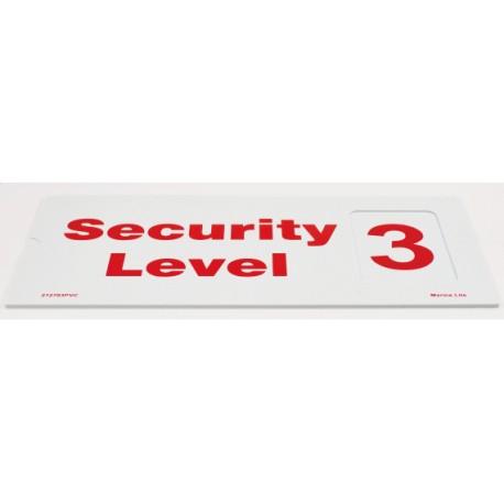 SECURITY LEVEL SET (1, 2, 3)  (1, 2, 3)  (15X30CM) PVC  212703PVC
