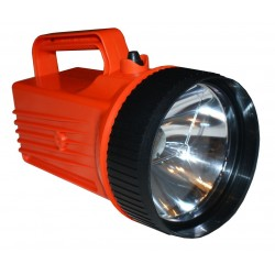 Flashlight Bright star 2206 LED, orange UL Safety D-cell battery caroussel included