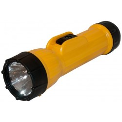Flashlight Bright star 2618HD, industrial heavy duty yellow 2x D-cell PR2