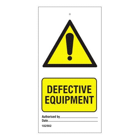 Señal IMO EQUIPO DEFECTUOSO (7,5x15cm) Set 10 units.  182502-SET