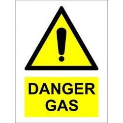 Señal IMO PELIGRO GAS (20x15cm) vinilo blanco autoadhesivo 230281WV
