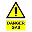 DANGER GAS  (20x15cm) White Vin. IMO sign 230281WV