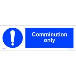 COMMINUTION ONLY (10x30cm) White Vin. IMO sign 195694WV