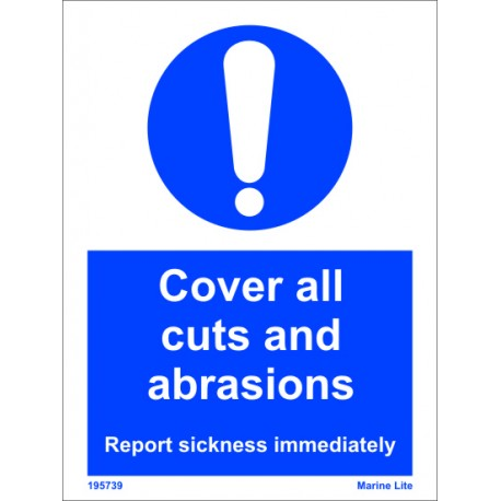 COVER ALL CUTS AND ABRASIONS  (20x15cm) White Vin. IMO sign 195739WV