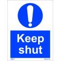 KEEP SHUT  (20x15cm) White Vin. IMO symbol 195871WV