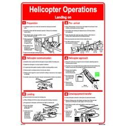 Señal IMO OPERACIONES DE ATERRIZAJE DE HELICÓPTERO (45x32cm)  vinilo blanco autoadhesivo 221578WV